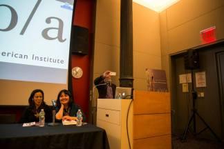 Editor, Robert Ku takes photo of audience