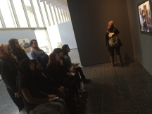 Arab American Lit class on our trip to see Ramallah/New York a video art series by Emily Jacir at MOMA