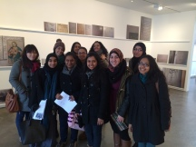 Arab American Lit students on class trip at the Emily Jacir exhibit at Alexander Bonin Gallery in Chelsea