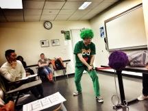 The Green Knight's turn to host Gawain.