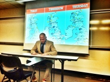 Reporting Medieval Weather in a break from Lanval's court trial.