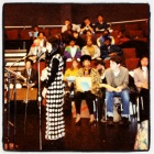 First Poetry Reading. In the seat behind me Jayne Cortez, who judged the city wide High School poetry contest at City College.